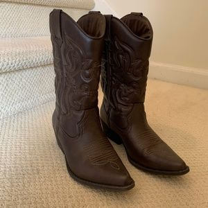 Mossimo Supply Company Brown Cowboy Boots